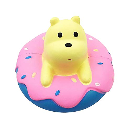 Mingbai Stress Relief Toys for Kids and Adults, Slowly Rising Soft Release Decompression Toy Suitable for Children, Creative Donut Bear Christmas Decoration, Anxiety Reducer Sensory Play