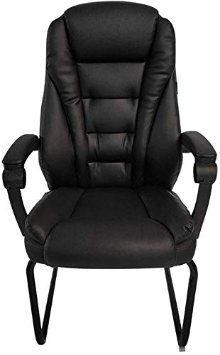 WYL Bseack Computer Chair Ergonomics Office Desk Chair Bow Foot PU Leather Chair Double Thick Cushion Computer Desk Chair for Office Meeting Room