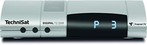 TechniSat Digipal T2/C DVR HDTV Kabelreceiver (mit Programmlistenmanager ISIPRO Kabel, AutoInstall, bereit für den Empfang von DVB-T2 HD, Camping, 12 Volt, DVRready) silber