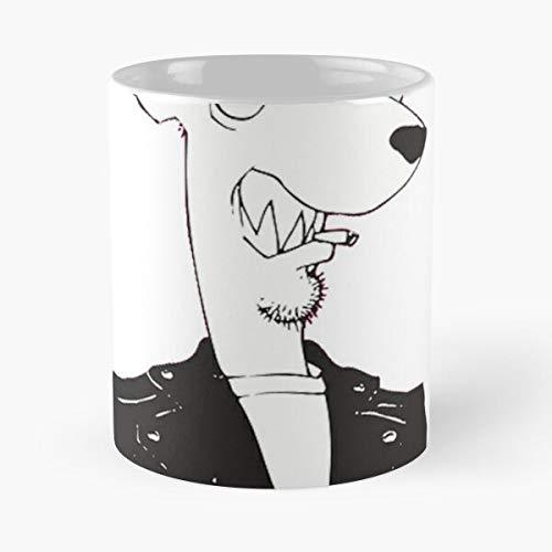 Punk Weasel Ben Boogada Boogadaboogadaboogada Screeching Eat Food Bite John Best Taza de café de cerámica de 325 ml