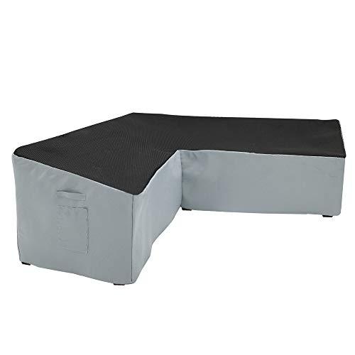 Yolaka Garden Furniture Corner Sofa Set Cover Heavy Duty Outdoor V Shaped Small Size 215x215 Waterproof