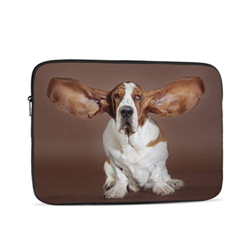 A1534 Macbook Case Basset Hound Flying Ears Stand Studio Macbook Pro Screen Protector Multi-Color & Size Choices 10/12/13/15/17 Inch Computer Tablet Briefcase Carrying Bag