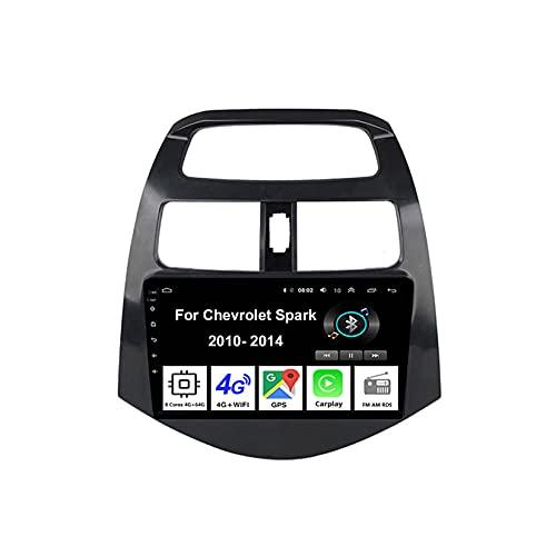 Android Autoradio Car Stereo Radio De Coche Pantalla Tactil Coche GPS Navegación Para Chevrolet Spark 2010-2014 Conecta Y Reproduce Cámara De Respaldo Estéreo De Coche Audio FM/Am/RDS