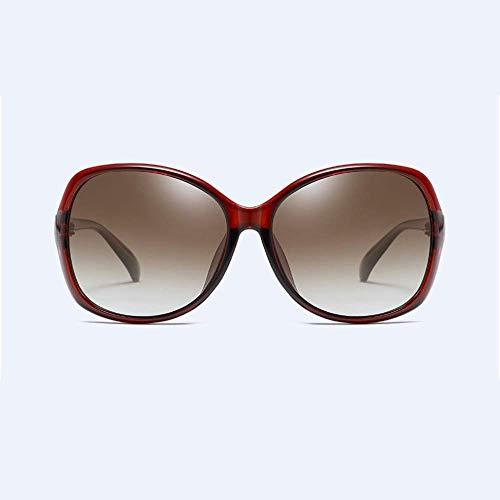 WYJW Zonnebril gepolariseerde zonnebril vrouwen zonnebril motor gepolariseerde UV-bescherming Koffie