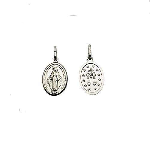 Medalla Virgen Milagrosa en Plata de Ley
