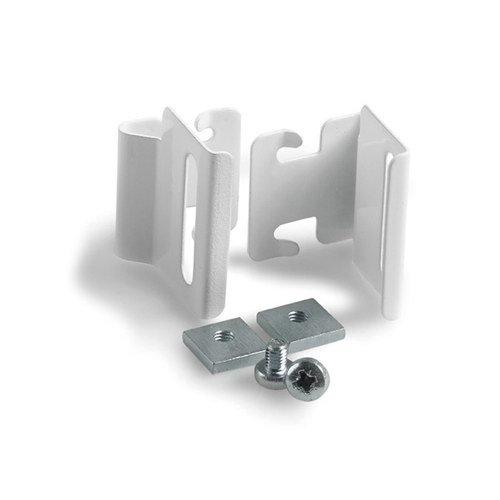 INTERDECO Glasclip Plissee-Klemmträger für Plissees in Weiß (2 Stück)