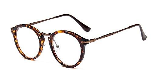 Embryform retro gafas redondas del marco del espejo del llano hombres y...