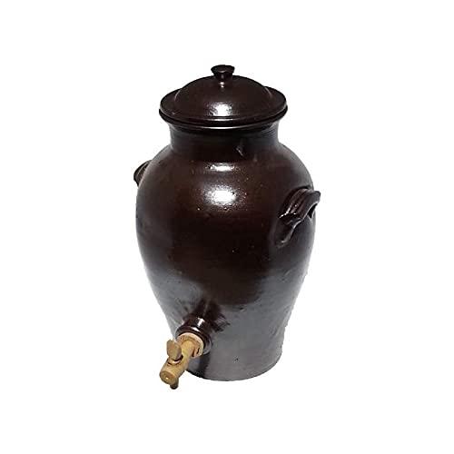 Poterie Turgis - Vinaigrier en grès 2.5L - Made in Calvados