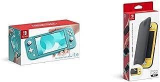 Nintendo Switch Lite ターコイズ+【任天堂純正品】Nintendo Switch Liteフリップカバー(画面保護シート付き)
