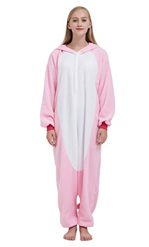 SAMGU Einhorn Adult Pyjama Cosplay Tier Onesie Body Nachtwäsche Kleid Overalll Animal Sleepwear Rosa - 3