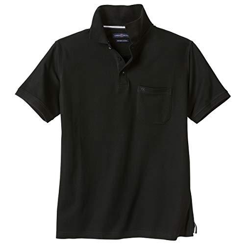 Polo-Shirt Herren Übergröße schwarz Casa Moda, XL Größe:4XL