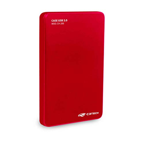 C3TECH CH-200 Gaveta HD USB 2.0, Vermelho