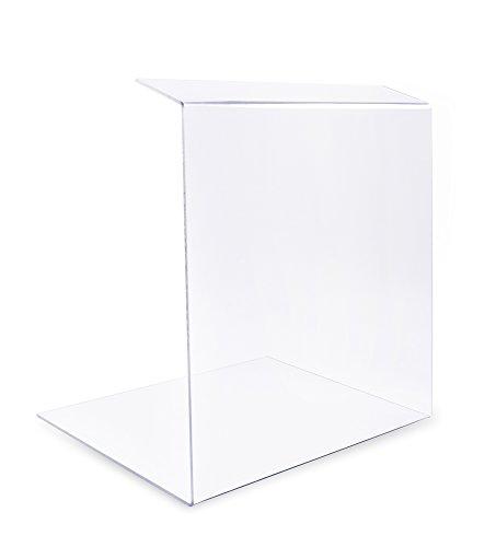 A+H Kunststoffe Spuckschutz Typ 4 I Hygieneschutz für Gastronomie Verkaufstheken I PETG, transparent I Länge 100 cm, Höhe 25 cm, Materialstärke 4 mm