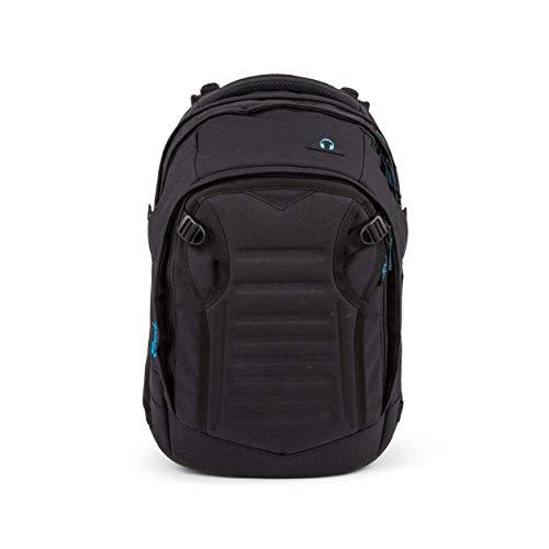 satch Match, Black Bounce ergonomischer Schulrucksack, erweiterbar auf 35 Liter, extra Fronttasche