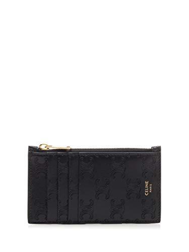 Luxury Fashion | Céline Man 10B683BFU38NO Black Leather Wallet | Spring Summer 20