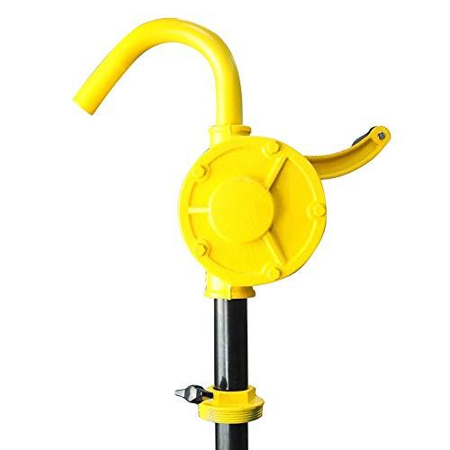 ZDAMN Hand Pomp Olie Brandstof Transfer Hand Roterende Transfer Trommel Vat Pomp Handmatige Olie Pomp Ideaal Voor Totale Lengte 1,3 Meter