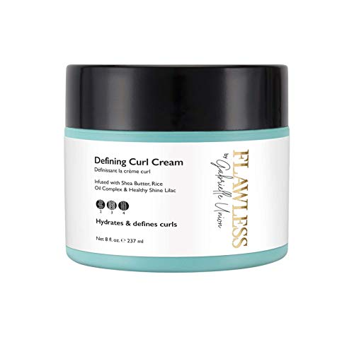 Flawless by Gabrielle Union - Defining Curl Hair Cream for Curly and Coily Hair, 8 OZ