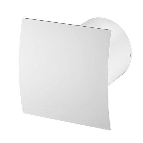 Super Leise Badlüfter mit weiß Front , Wand-Ventilator Ø 100 Kugellager Mega Silent Standard Escudo - Line System+ (weiß)