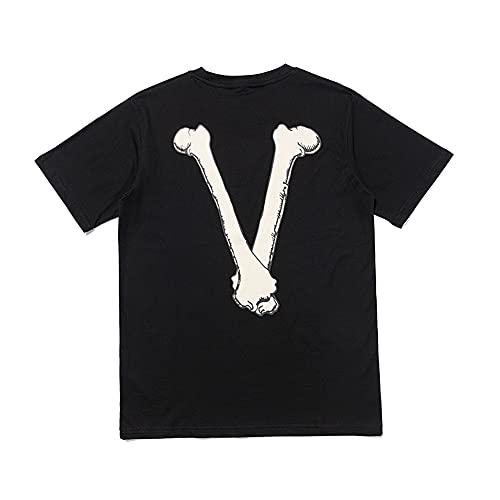 hipposale Moda Dragon Camisas Big V Impreso Algodón T Shirt Moda Casual Mujeres Manga Corta Camiseta Hombres