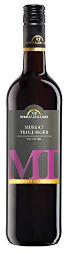 Muskat-Trollinger 'MT' halbtrocken, Remstalkellerei Weinstadt, Württemberg (0,75 l) Jahrgang 2018