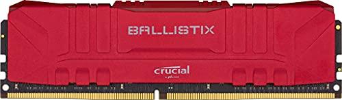 Crucial Ballistix 3000 MHz DDR4 DRAM memória para jogos de mesa 8 GB CL15 BL8G30C15U4R (Vermelho)
