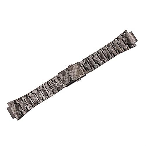 GZMYDF 316 Caja de Correa de Camuflaje de Acero Inoxidable Hombre DW5600 Series GW5000 5610 Accesorios de Pulsera de Banda de Reloj para Casio G-Shock Dama (Band Color : Strap, Band Width : 5600)