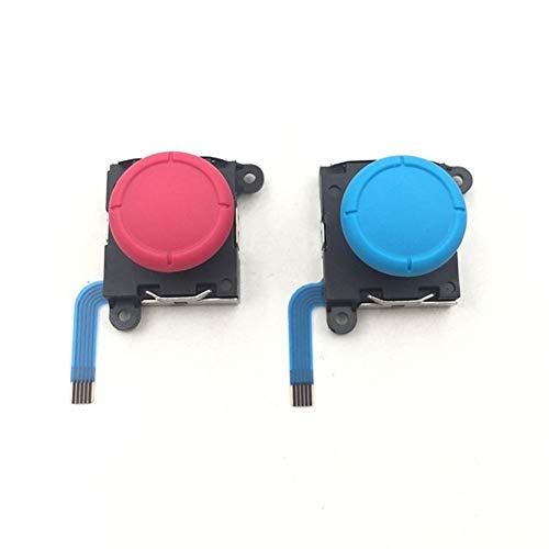 XIAOFANG 10PCS Vorlage for Nintendo Schalter Lite & Joy Con-Controller Joypad 3D Analog Joystick Thumb-Stick Joystick-Sensor-Modul ( Color : Red Blue Each 5PCS )