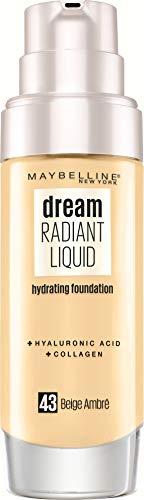 Maybelline New York - Fond de Teint soin hydratant - Dream Radiant liquid - Beige Ambré (43) - 30 ml