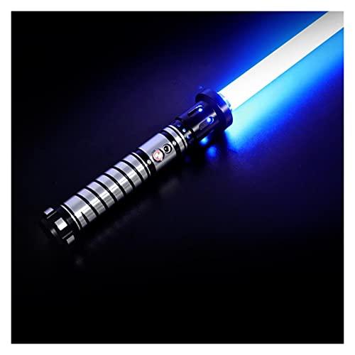 youwu SABER EMPEROR | Sable de luz de actualización | Sable de luz RGB Force FX | 12 colores RGB 10 juego de fuentes de sonido | Decoración de Navidad de Pascua | Hecho profesional | (color: RGB )