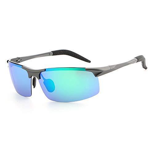 Yeeseu Gafas de sol polarizadas magnesio y aluminio for hombre de las gafas de sol gafas de sol de conducción Moda gafas de moda (Color: Verde, Tamaño: Libre) Ciclismo, Correr, Pesca, Pesca, Senderism