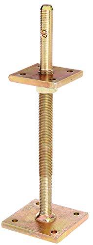 GAH-Alberts 217532 Pfostenträger | zum Aufschrauben | galvanisch gelb verzinkt | höhenverstellbar 100 - 230 mm | 80 x 80 mm
