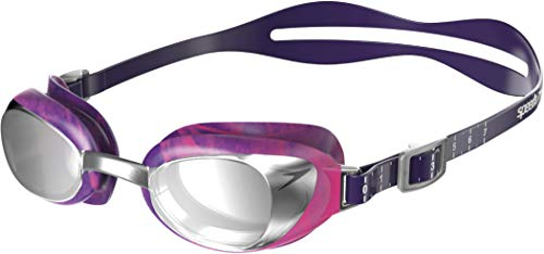 Speedo Damen Aquapure Mirror Female Schwimmbrille, Bramble/Silber/Chrom, One Size