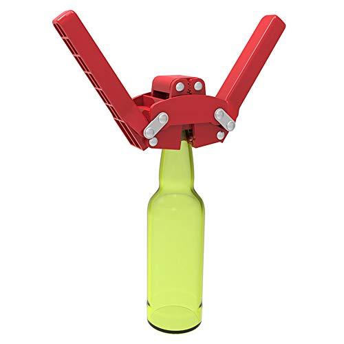 LQKYWNA Manual de Doble Palanca Botella De Cerveza Corona Capper Capper Sellado para Elaboración Casera Botella De Cerveza Fácil De Tapar (Rojo)