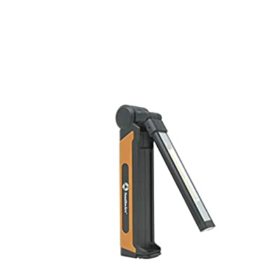 Southwire SL50RSW 500-Lumen Rechargeable Folding LED Handheld Flood Light, 360° Pivoting Head, 4 Light Modes, Magnetic Base and Hanging Hook, Includes a Carry Case with Belt Clip, 1M Drop Tested