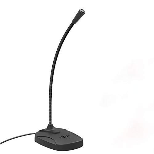 GY-HCJIMkf USB micrófono de Escritorio, Plug & PlayCondenser, Ordenador, PC, Ordenador portátil, Cuello de Cisne Diseño -Grabación, Dictado, Streaming (Color : Black)