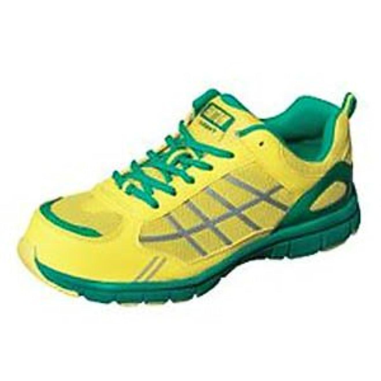 調整可能後方に疑い弘進ゴム/ファントムライトFL-550/安全作業靴 スニーカー サイズ:26.5cm カラー:イエロー