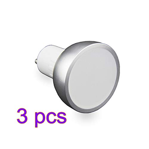 Bombillas inteligentes con WiFi GU10, GU10, bombillas LED regulables de 50 W, control remoto por smartphone, compatible con Amazon Alexa y Google Assistant para iOS y Android, no requiere HUB