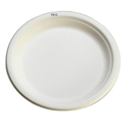使い捨て 丈夫な紙皿 エコでおしゃれな eモールド プレート 23cm P013 50枚入