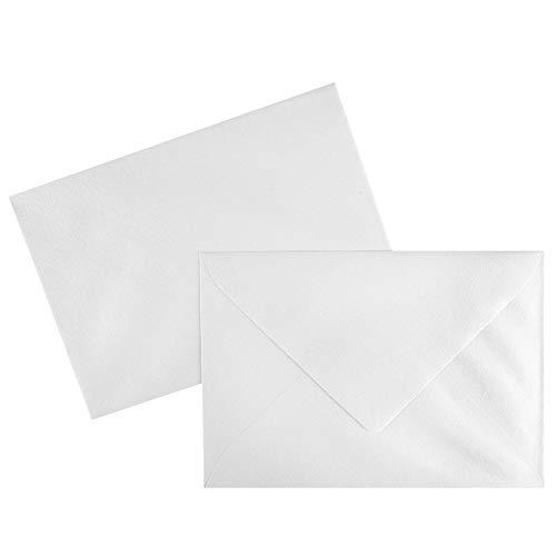 Premium Perlmutt-Umschläge | Din C6 | 100 Stück | weiß