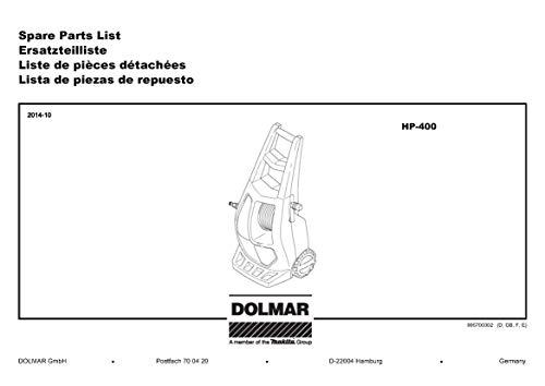 Dolmar 609082130-8225 waterfilter, origineel vervangend onderdeel HP-400