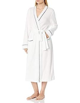 Amazon Essentials Women s Lightweight Waffle Full-Length Robe White-DNU Small