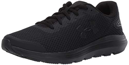 Under Armour Men's Surge 2 Running Shoe, Black (002)/Black, 11.5