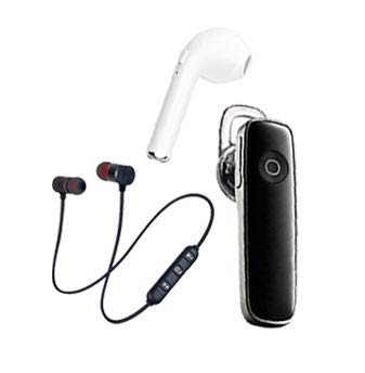 FIER P-3 Wireless Bluetooth In Ear Headset with Mic (Black And White)