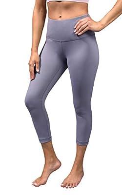 90 Degree By Reflex - High Waist Tummy Control Shapewear - Power Flex Capri - Blue Granite - Small