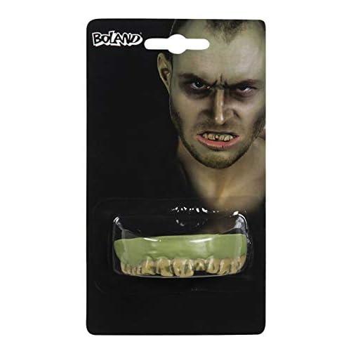 Boland- Dentiera Zombie per Adulti, Verde, Taglia Unica, 72057
