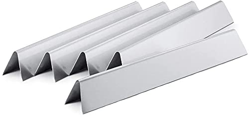 Denmay 7537 Flavorizer Bars Edelstahl Hitzeschild 57,2cm für Weber Gasgrill Zubehör (mit seitlichen Tasten) Spirit E310 E320 700 900 Genesis Silver Gold Platinum B/C Ersatzteile.