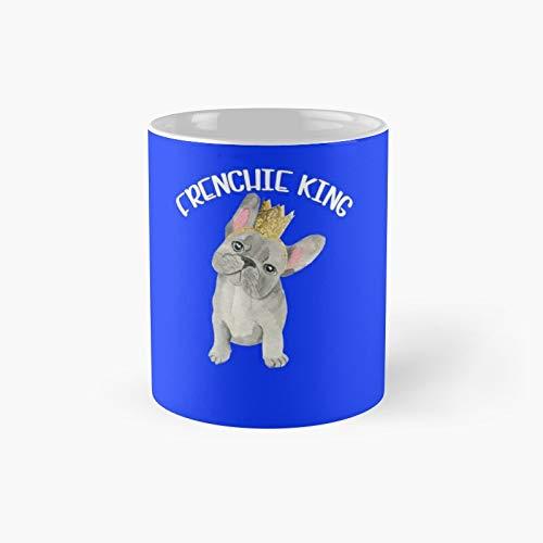 Frenchie King Puppy French Bulldog Dog Lovers Taza clásica   El mejor regalo divertido tazas de café de 325 ml