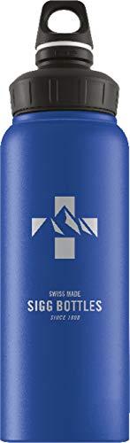 SIGG WMB Mountain Blue Touch Trinkflasche (1 L), schadstofffreie und auslaufsichere Trinkflasche, federleichte Trinkflasche aus Aluminium