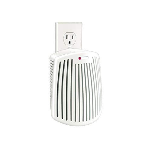 Hamilton Beach TrueAir Plug-Mount Odor Eliminator with Carbon Filter, Common Household-Tobacco, Pet, Bathroom, Trash, On/Off Fan, White (04530G)