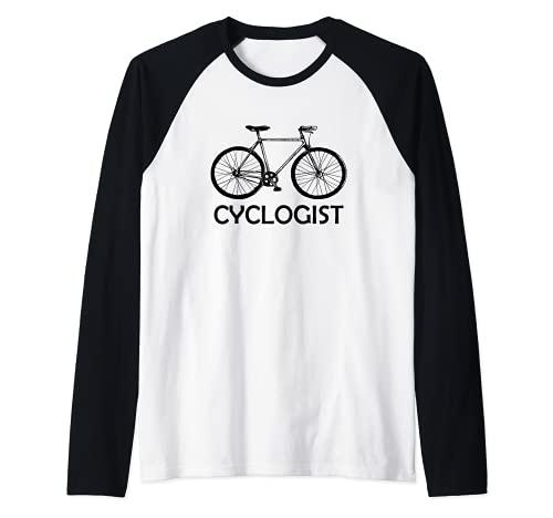 Cycologist Mountain Bike Bicylce MTB Cycling Raglan Baseball Tee